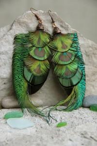 Серьги с перьями «Ворожея»