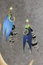 "Feather earrings ""Wild Flower"""