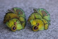 "Feather earrings ""Dragon Scales """