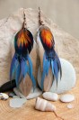 "Feather earrings ""Hunting Season"""