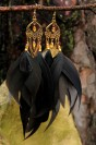 "Earrings""Gold gothic"""