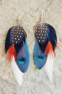 "Feather earrings ""Spain"""