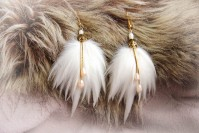 "Feather earrings ""Lady"""