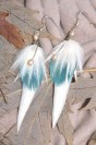 "Feather earrings ""Sweet Morning"""