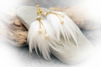 "Feather earrings ""Winter Love"""