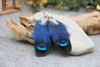 "Feather earrings ""Ultramarine Gift"""