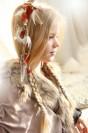 "Hair clip ""Magic of Reindeer"""