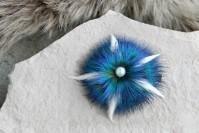 """Hair clip """"Blue Flower"""""""