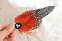 "Hair clip ""Red Phoenix"""
