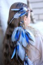 "Feather hair extension ""Walk in the Sky"""