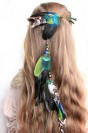 "Feather hair extension ""April witch"""