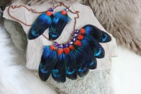 "Earrings and necklace ""Night"""