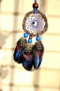 "Feather dreamcatcher pendant ""Flight to the Great Water"""